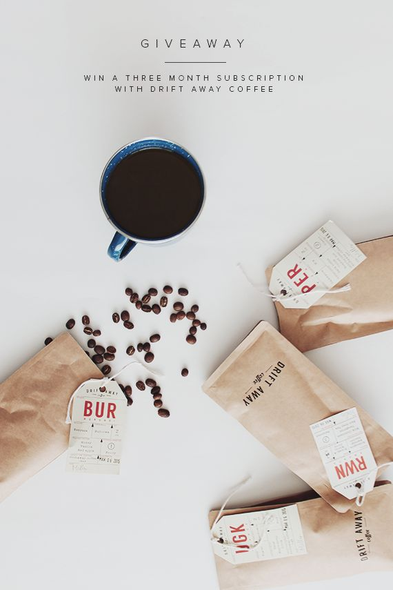 Drift Away Coffee Giveaway | Coffee Packaging | Kraft Packaging | Kraft Stand Up Pouch