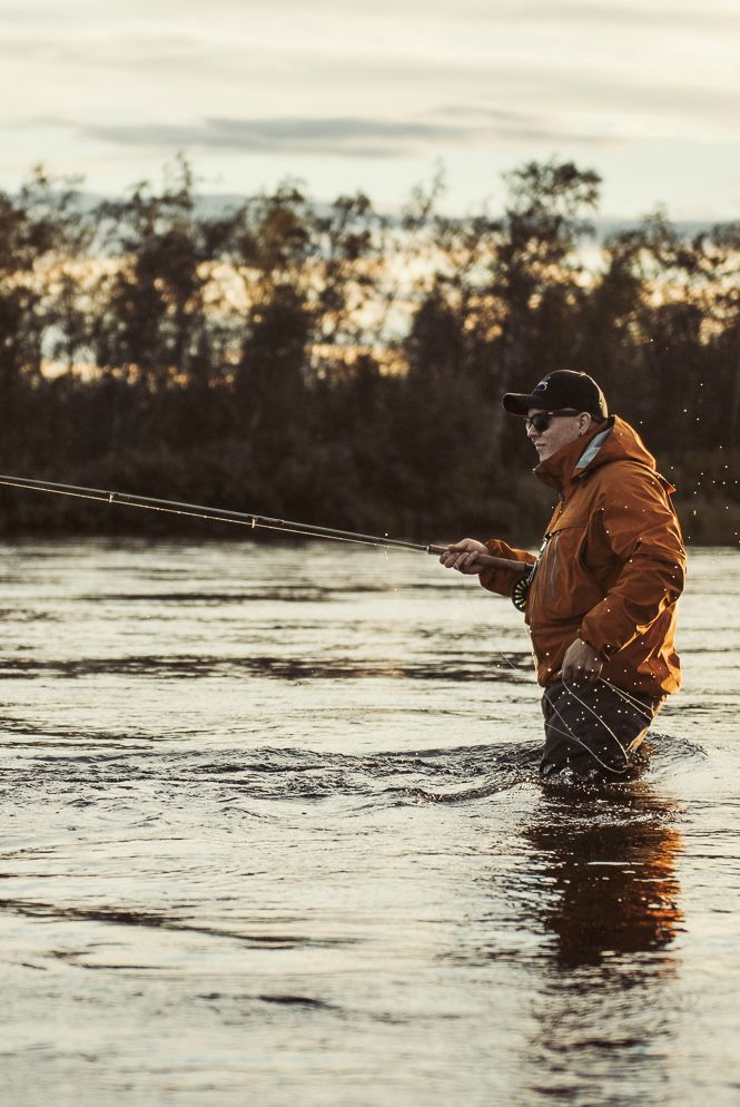 Flyfishing photography. Outdoor look for men.