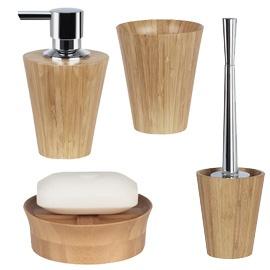 max light bamboo bathroom accessories
