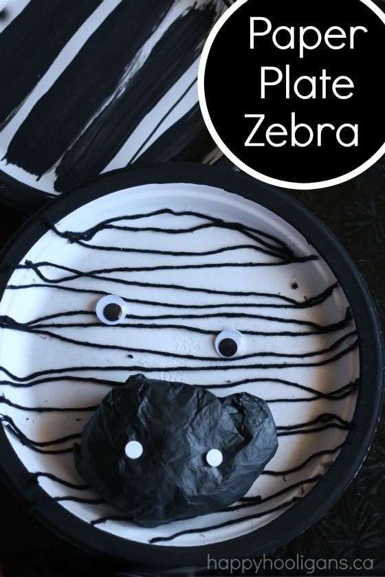 Paper Plate Zebra Craft for Kids - such a fun and cute craft for a zoo unit or for toddlers and preschoolers learning the letter Z - Happy Hooligans