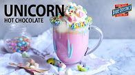 Learn how to make this unicorn hot chocolate beverage in this step-by-step how-to video. A magical pastel rainbow of color, fluffy mini marshmallows and a warm and creamy white chocolate make this Unicorn Hot Chocolate the drink of little girls' dreams. Take it over the top with whipped cream, blue icing and multi-colored star sprinkles! Perfect for magical winter evenings!