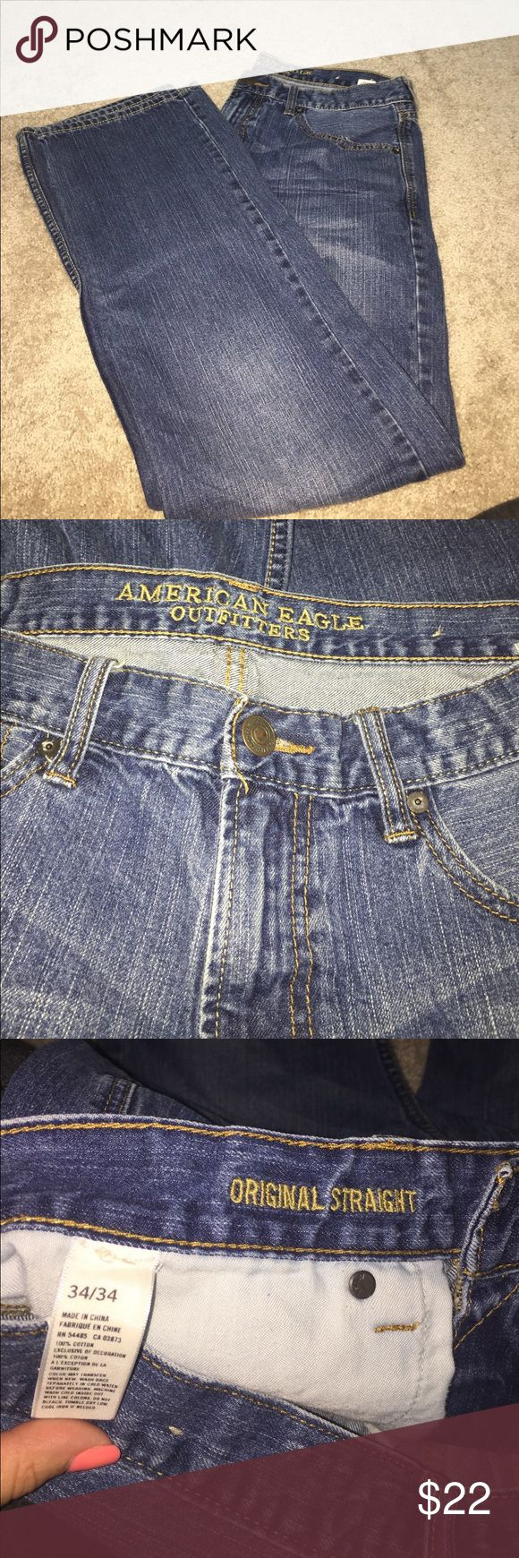 American eagle jeans 34/34 original straight American eagle jeans 34/34 original straight men's jeans like new condition American Eagle Outfitters Jeans Straight