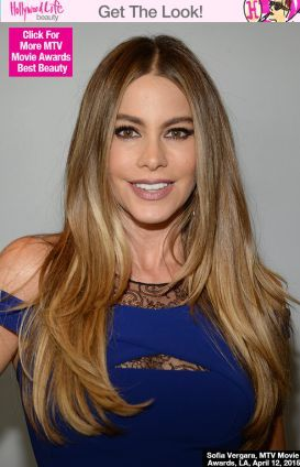 Sofia Vergara's Berry Lip & Thick Eyeliner At The MTV Movie Awards