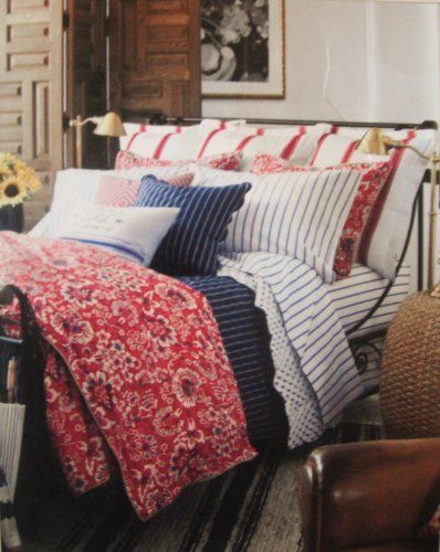1000 images about red white and blue bedding on pinterest - Red white and blue sheets ...