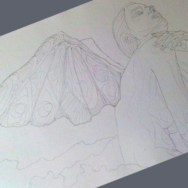 Эскиз, карандаш