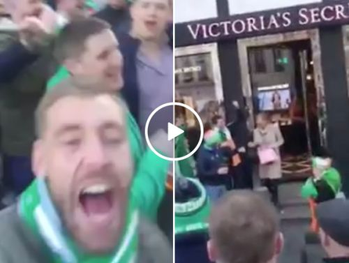Irish soccer fans go nuts for Victorias secret (Video)