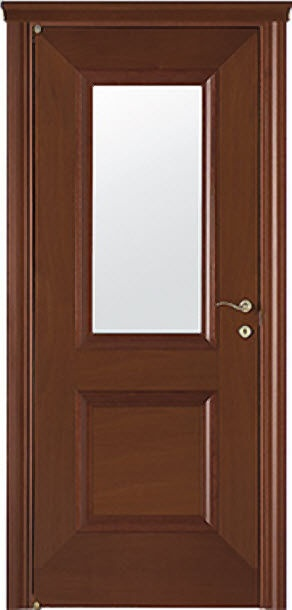 wooden swing door with small window pane AKORI NVP barausse spa