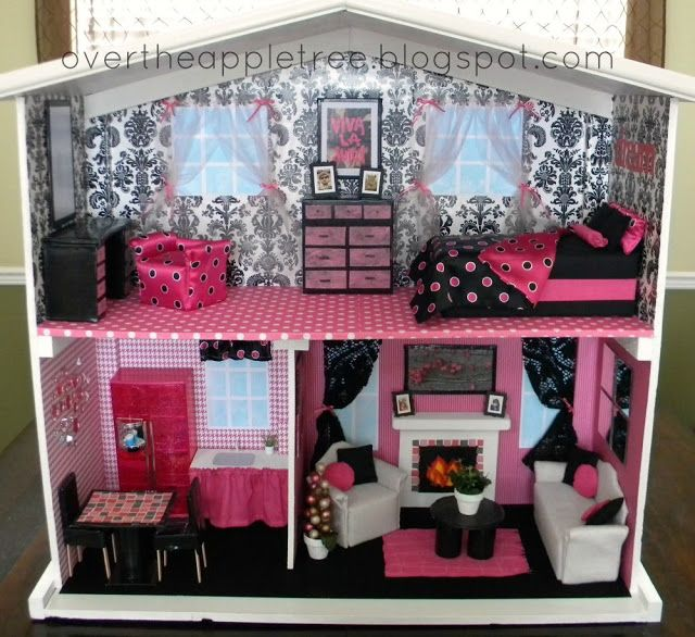 DIY Barbie House By Over The Apple Tree    House And Furniture All DIY