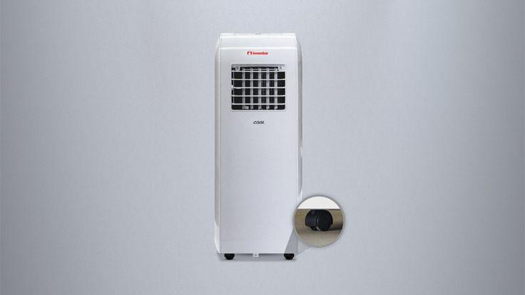 Inventor Cool 8.000 Btu/h Mobile Klimaanlage Klimagerät nur zur Kühlung (Ventilator, LCD-Display, Energieeffizienzklasse A mit ECO Design, Timer-Funktion, Laufrollen)