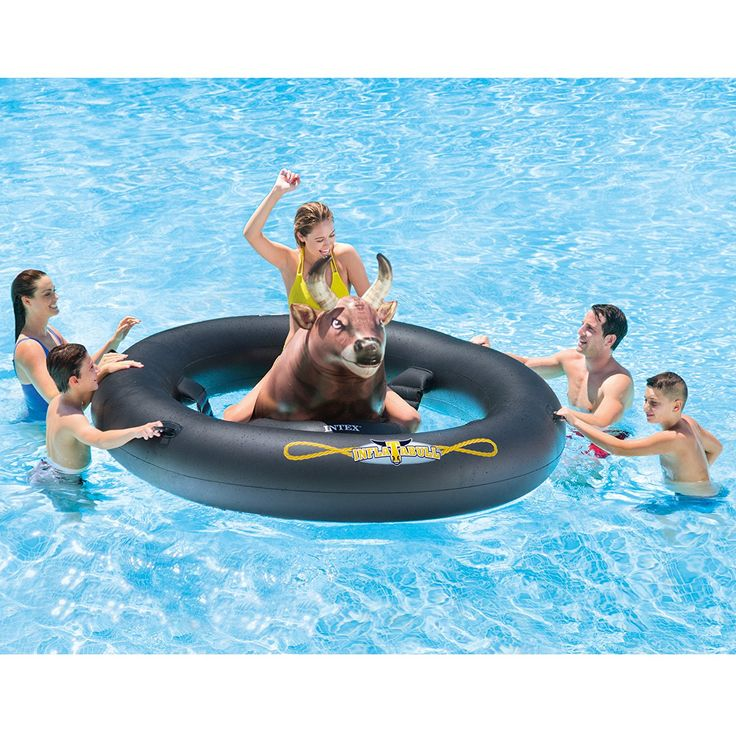 """Amazon.com: Intex Inflat-A-Bull, Inflatable Pool Toy, 96"""" X 77"""" X 32"""": http://amzn.to/2um9oEI"""