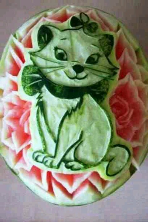 Carved watermelon!