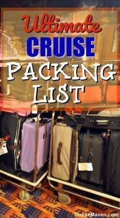 Here's my new printable packing list to help you take only what you really need for your cruise!