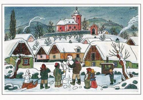 Josef Lada -česká zima...Josef Lada -Czech winter ...