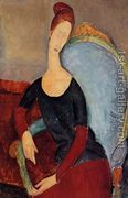 Portrait of Jeanne Hebuterne Seated in an Armchair  by Amedeo Modigliani
