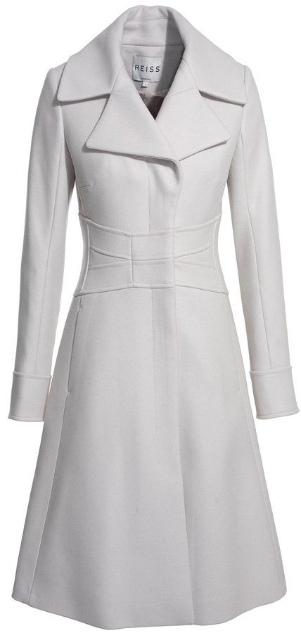 reiss coco fit 'n flare coat - fit for a princess