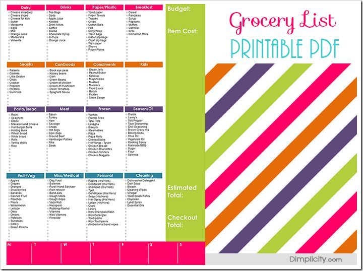 63 best List Templates images on Pinterest Grocery lists - grocery templates free