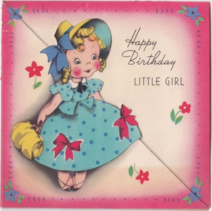 318 best Vintage birthday cards images – Happy Birthday Card for Little Girl
