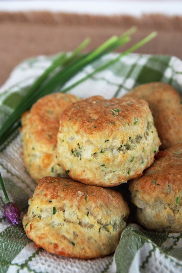 These Cheese and Chive biscuits are made with sourdough starter (or buttermilk). They are super fluffy and buttery and make a quick dinner side.