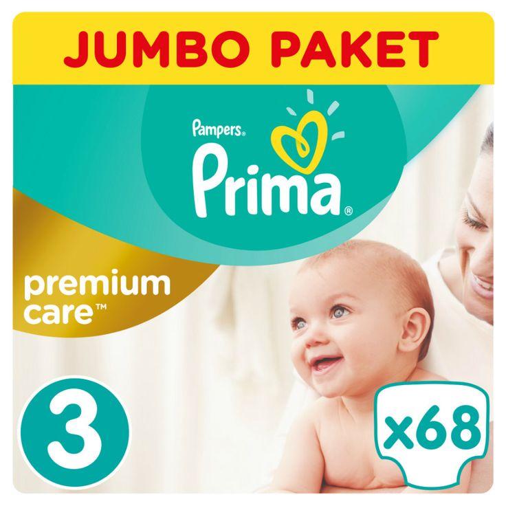 Prima Premium Care Bebek Bezi 3 Beden Jumbo Paket 68 Adet