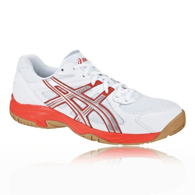 Asics Gel Doha GS Junior Squash Shoes - White and Pink