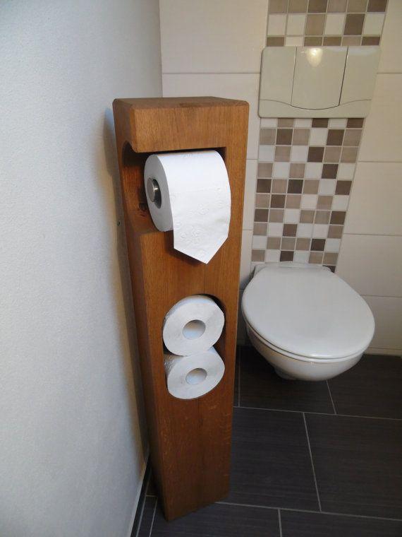 Toilettenpapierhalter von MitHerzundHolz auf Etsy                                                                                                                                                                                 Mehr