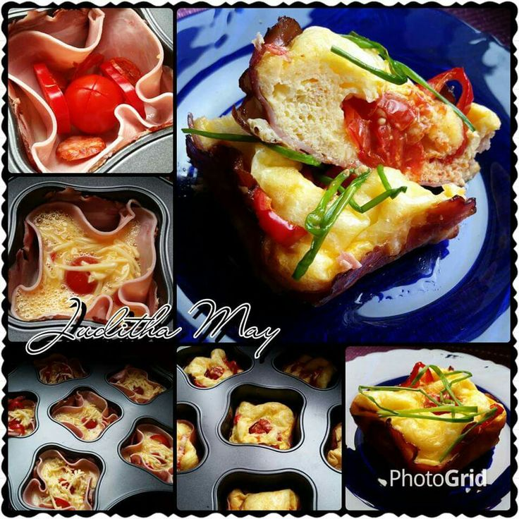 Vaječné muffiny s libovou slaninou