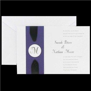 His U0026 Hers Purple Monogram Wrap Wedding Invitations | Shop Hobby Lobby