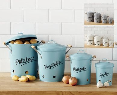 Keep potatoes, vegetables, onions and garlic fresher for longer in these cute containers. In store this Thursday #ContemporaryKitchen #Win #Specialbuys