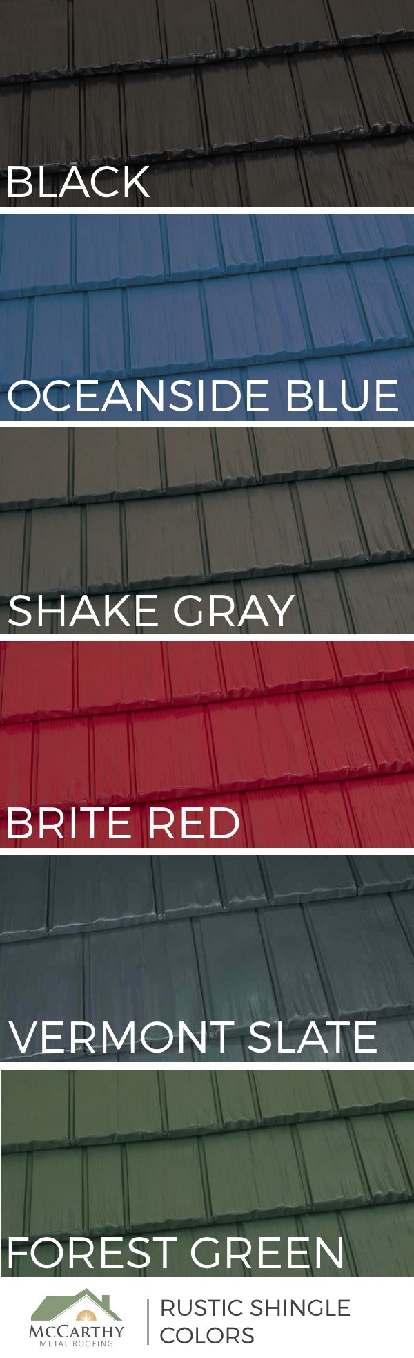 Popular Metal Roof Colors | 6 On Trend Shades Of The Rustic Shingle  Aluminum Roofing