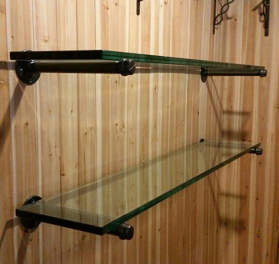 1000 ideas about glass shelf brackets on pinterest floating glass shelves glass shelves and. Black Bedroom Furniture Sets. Home Design Ideas