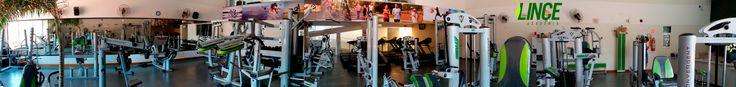 Visão 360º do Salão de musculação da Lince Academia de Marília/SP