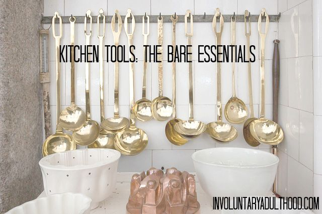 When you're moving in to your first place, it can be hard to figure out exactly what you'll need. Here's a list of kitchen tools to help you figure out the needs from the wants.