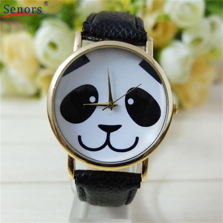 relogio masculino erkek kol saati reloj mujer Faux Leather Band Watch Fashion Panda Quartz Wrist Women Watchs -in Women's Watches from Watches on Aliexpress.com | Alibaba Group