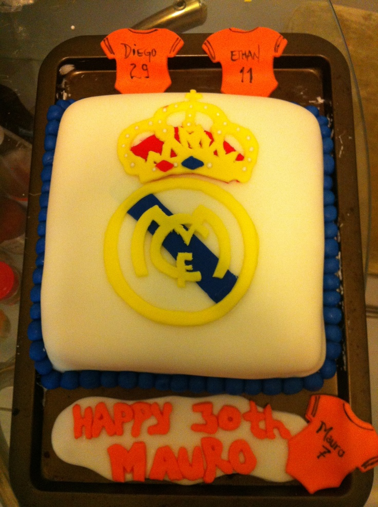Real Madrid soccer birthday cake