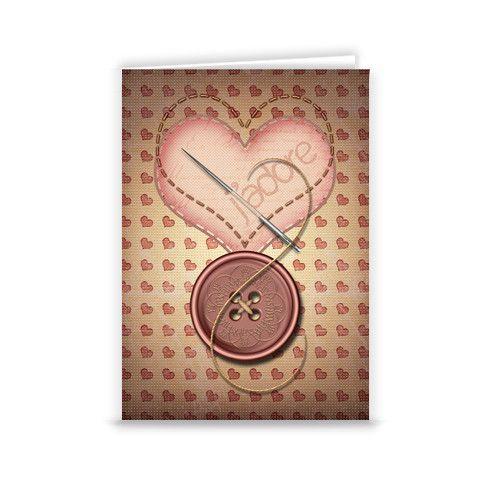 I Love Sewing Greeting Card by casamstudio at zippi.co.uk