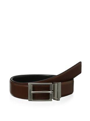 58% OFF Calvin Klein Men's Reversible Feather Edge Belt (Cognac/Black)
