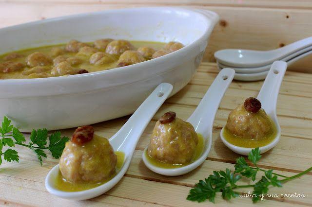 JULIA Y SUS RECETAS: Albóndigas de pollo al curry