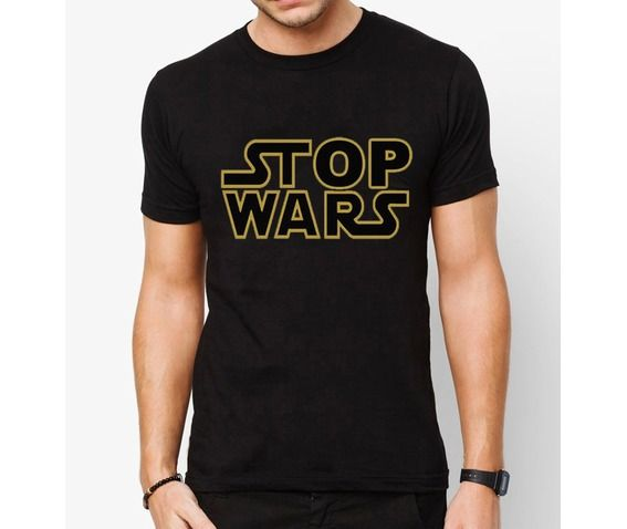 Mens tattoo stop war black t shirt quality cotton 100 black mens s xl t shirts 2