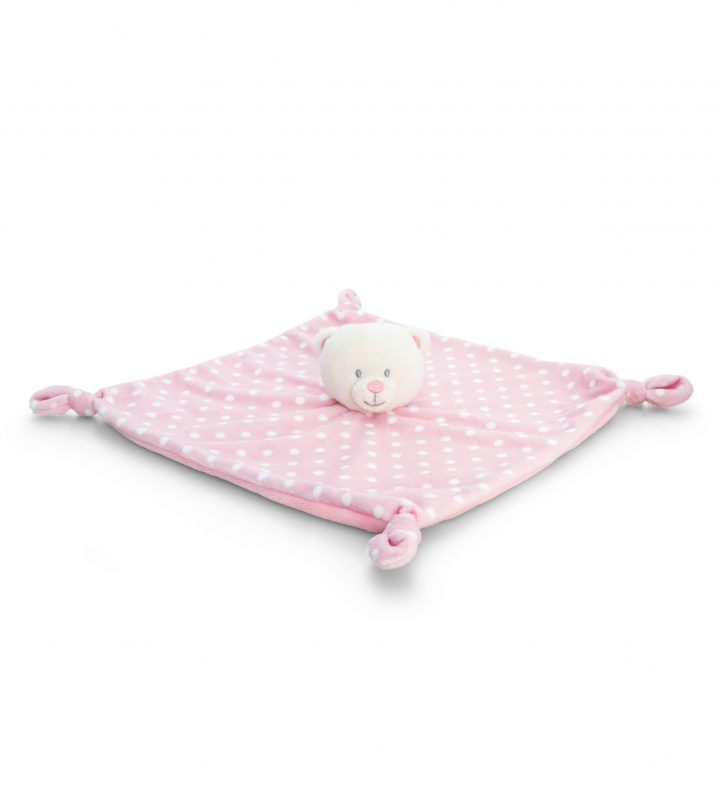 Teddy Personalised Baby Comforter Pink Personalized Baby Gifts