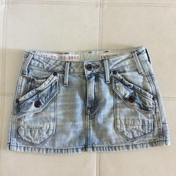g- star raw denim storm skirt super cute sold out everywhere g star skirt. never been worn. size 24 g-star Jeans