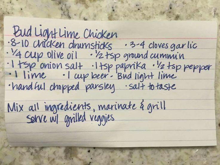 Bud Light Lime Chicken