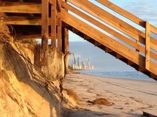 Nobby beach erosion