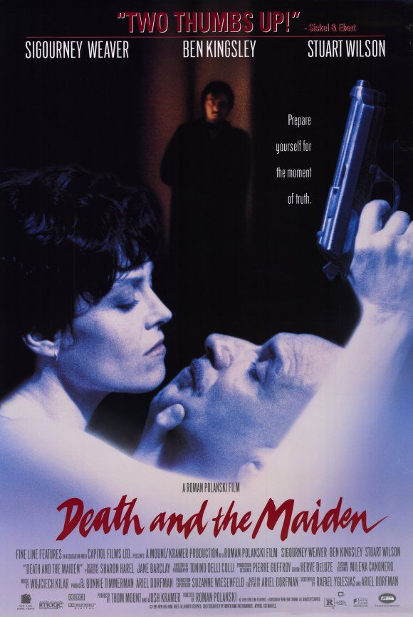 Death and the Maiden , starring Sigourney Weaver, Ben Kingsley, Stuart Wilson, Krystia Mova. A political activist is convinced that her guest is a man who once tortured her for the government. #Drama #Mystery #Thriller