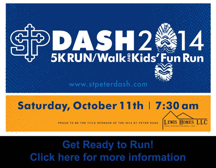 Register now for the St. Peter Dash! St. Peter Catholic