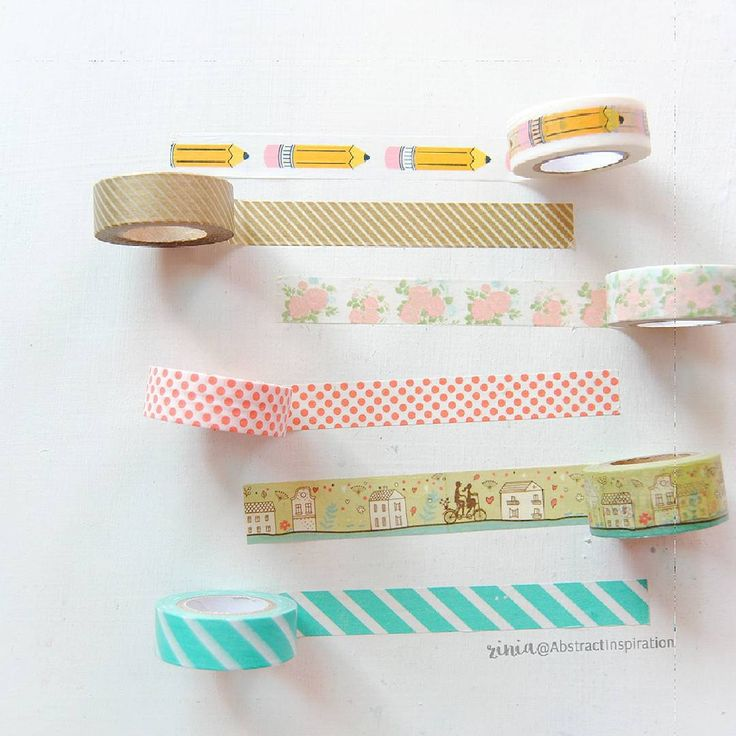 """""""I'm so in love with these new washi rolls. Don't they just look perfect together? #washi #washitape #plannergoodies #plannersupplies #findingnanashop"""""""