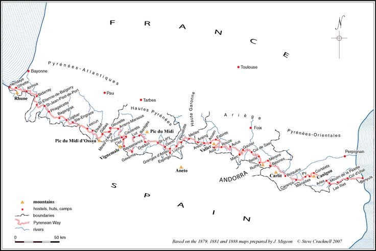 Image Result For French Spanish Border Map
