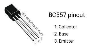 BC557 transistor pinout