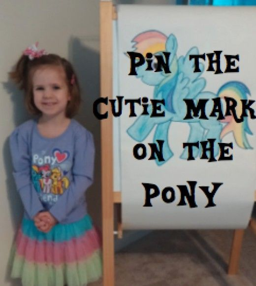 Pin the Cutie Mark on the Pony - an awesome #MyLittlePony #PartyGame!  :)  How to Throw a Fabulous My Little Pony Party for a Little Girl