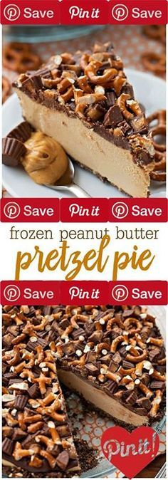 Frozen Peanut Butter Pretzel Pie Guys were total #sweets peanut butter addicts over here. This frozen peanut butter pie is a delicious (almost) no-bake treat thats perfect for warm weather. It has a chocolate pretzel crust a thick and creamy peanut butter filling and is topped with a luscious ganache and lots of peanut butter cups and pretzels. If you love sweet and salty desserts this ones for you!Summer is right around the corner!! Are you excited?! We just ordered the kids some new…