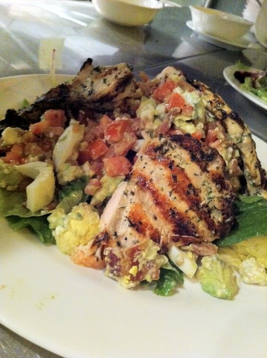 Grilled Chicken Cobb Salad (avocado, plum tomato, hickory smoked bacon ...